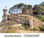 tossa de mar fortress of the... | Shutterstock . vector #725641987