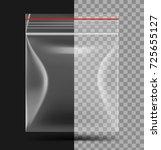 transparent plastic bag with... | Shutterstock .eps vector #725655127
