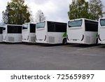 parked buses   kongsvinger ... | Shutterstock . vector #725659897