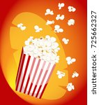 popcorn icon symbol food cinema ... | Shutterstock .eps vector #725662327