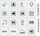 multimedia icons set.... | Shutterstock .eps vector #725668753
