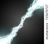 electric discharge. electricity ... | Shutterstock .eps vector #725670727