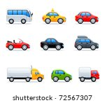 vector car icons | Shutterstock .eps vector #72567307