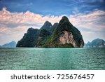 Stock photo phuket thailand cruise to james bond island 725676457