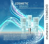3d realistic cosmetic bottle...   Shutterstock .eps vector #725680243