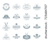 surgery tools logo icons set.... | Shutterstock .eps vector #725684707