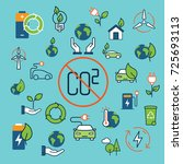 color green energy icons... | Shutterstock .eps vector #725693113