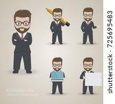 businessman cartoon character...   Shutterstock .eps vector #725695483