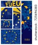 abstract europe flag  european... | Shutterstock .eps vector #725696383