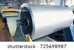 rolled steel. stack of rolls ... | Shutterstock . vector #725698987