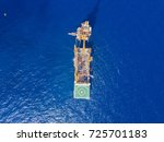 aerial view of tender drilling... | Shutterstock . vector #725701183