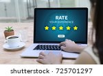 online reviews evaluation time... | Shutterstock . vector #725701297