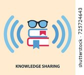 knowledge sharing flat concept. ... | Shutterstock .eps vector #725724643