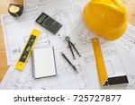 engineering diagram blueprint... | Shutterstock . vector #725727877