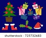 christmas clip art.christmas...   Shutterstock .eps vector #725732683