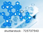 top view of chemical liquid in... | Shutterstock . vector #725737543