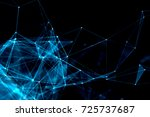 abstract technology and future... | Shutterstock . vector #725737687