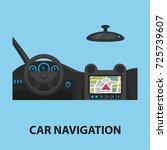 car navigation flat concept.... | Shutterstock .eps vector #725739607