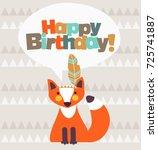 happy birthday   lovely vector... | Shutterstock .eps vector #725741887
