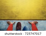 start background  top view of... | Shutterstock . vector #725747017