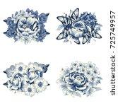 flower set | Shutterstock . vector #725749957