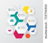 modern infographics options... | Shutterstock .eps vector #725750503