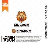 lion head logo vector | Shutterstock .eps vector #725755537