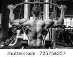 handsome young muscular...   Shutterstock . vector #725756257