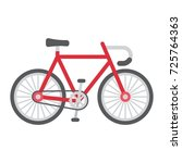bicycle flat icon  transport... | Shutterstock .eps vector #725764363