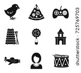 expensive toy icons set. simple ... | Shutterstock .eps vector #725769703
