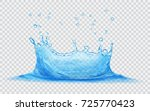 translucent water crown with... | Shutterstock .eps vector #725770423