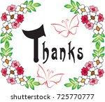 thank you card | Shutterstock .eps vector #725770777