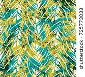 bold abstract jungle print with ... | Shutterstock .eps vector #725773033