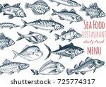 vector illustration sketch  ... | Shutterstock .eps vector #725774317