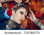 portrait of beautiful girl...   Shutterstock . vector #725780773