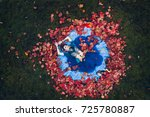 aerial view of a girl in a...   Shutterstock . vector #725780887
