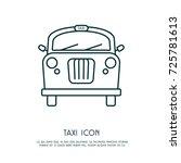 taxi icon   Shutterstock .eps vector #725781613
