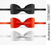 realistic 3d bow tie set... | Shutterstock .eps vector #725788057