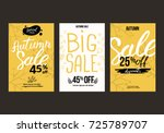 autumn sale background template.... | Shutterstock .eps vector #725789707