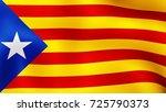 3d rendering. flag of catalonia ... | Shutterstock . vector #725790373