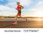 triathlon   triathlete man... | Shutterstock . vector #725796067