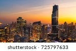 panorama cityscape view of... | Shutterstock . vector #725797633