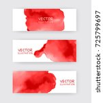 red banners set with abstract... | Shutterstock .eps vector #725799697