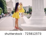 mother and daughter | Shutterstock . vector #725812573