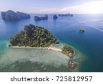 aerial view of the islands off... | Shutterstock . vector #725812957