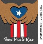 hurricane relief for puerto... | Shutterstock .eps vector #725814367