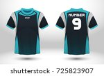 blue and black layout football... | Shutterstock .eps vector #725823907