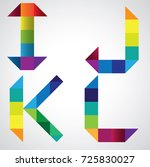 colorful alphabet with... | Shutterstock .eps vector #725830027