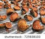 dry bael fruit   slices of dry... | Shutterstock . vector #725838103