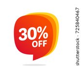 30 discount  sales vector... | Shutterstock .eps vector #725840467